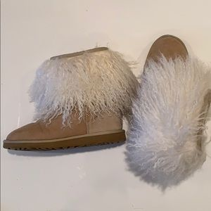 Sand Ugg Mongolian Lamb short boots